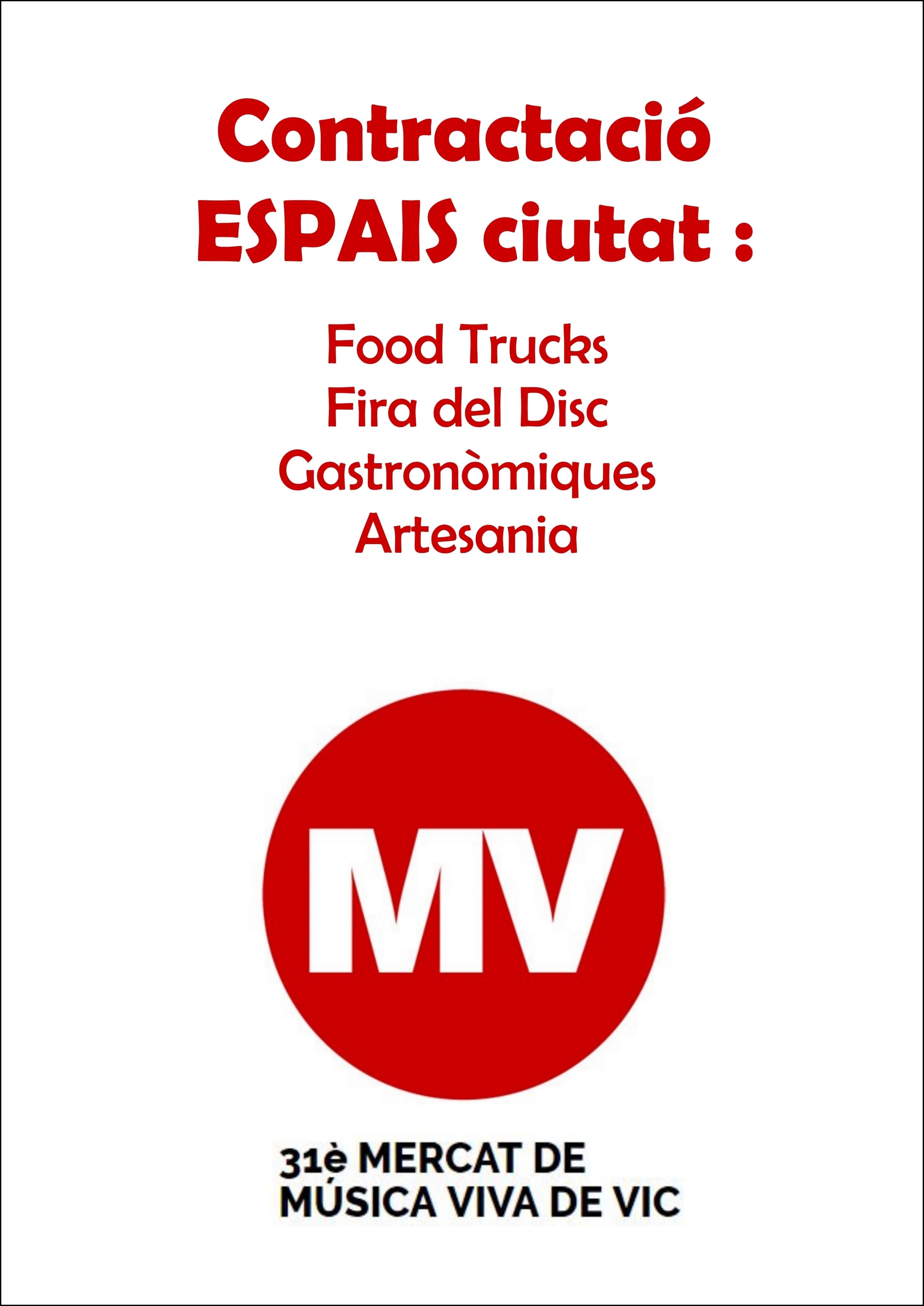 CONTRACTACIÓ ESPAIS CIUTAT | MMVV