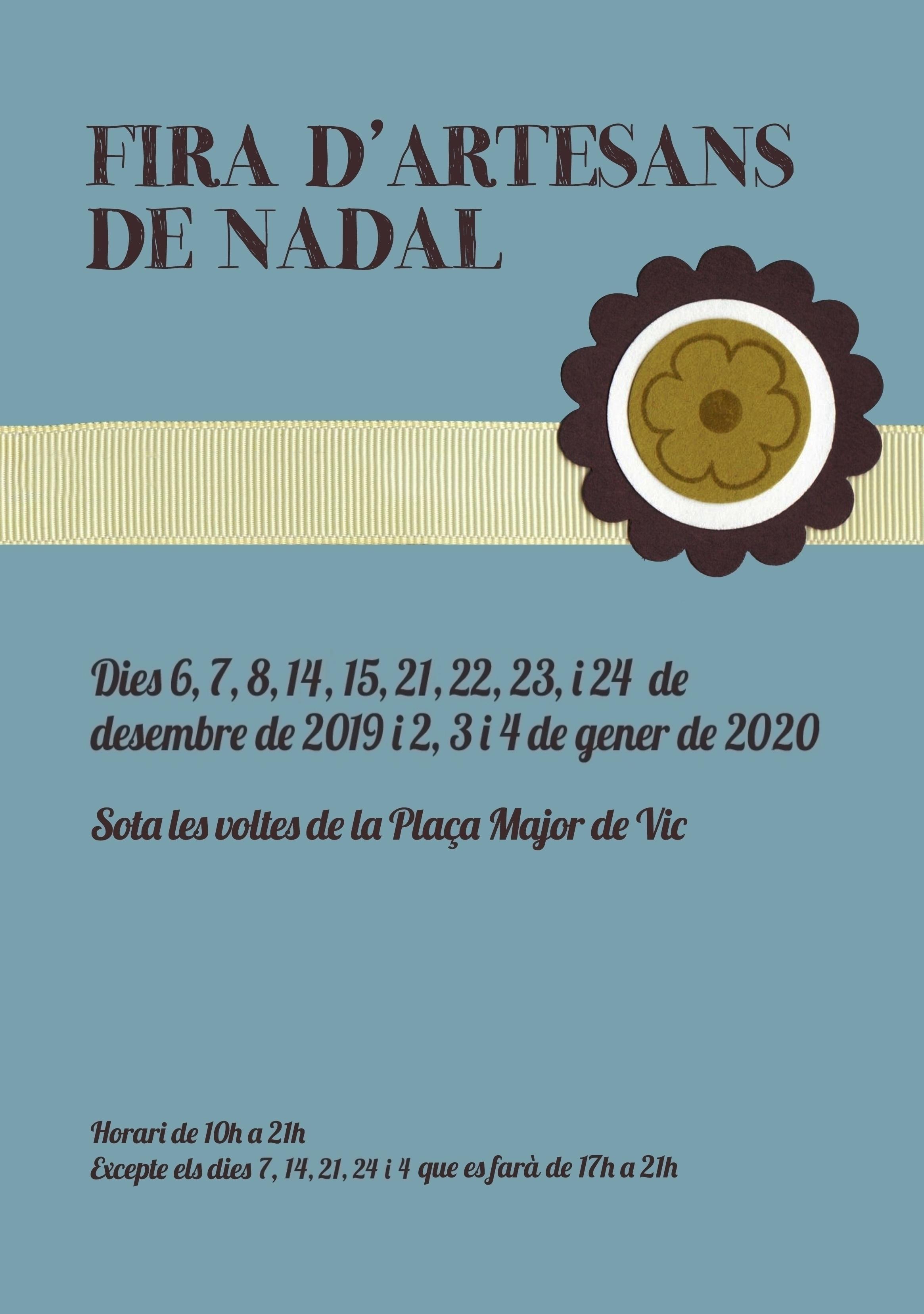 FIRA D'ARTESANS DE NADAL 2019-2020
